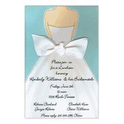 Bridal Shower Invitations, Back Bow Blue, Picture Perfect