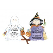 Halloween Invitations, Girl Witch Boy Ghost, Picture Perfect