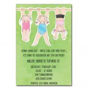 Gymnastics Invitations, Handing around, Picture Perfect