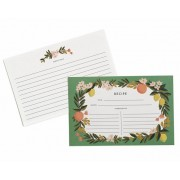 Recipe Cards, Citrus, Rifle