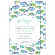 Fish Invitations, Watercolor Tropical Fish, Roseanne Beck