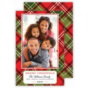 Christmas Photo Cards, Christmas Plaid, Roseanne Beck