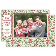 Christmas Photo Cards, Holiday Floral, Roseanne Beck