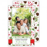 Christmas Photo Cards, Pinecones and Berries, Roseanne Beck