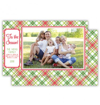 Christmas Photo Cards, Holiday Plaid, Roseanne Beck