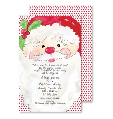 Christmas Invitations, Santa, Roseanne Beck