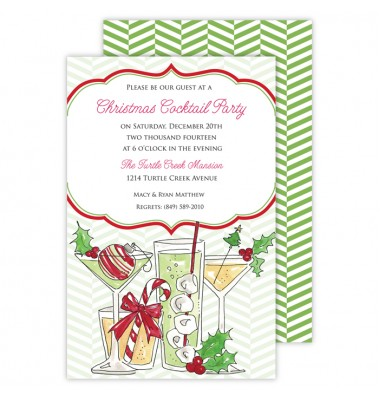 Christmas Invitations, Christmas Cocktails, Roseanne Beck