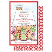 Christmas Invitations, Gingerbread House, Roseanne Beck