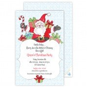 Christmas Invitations, Jolly Santa, Roseanne Beck