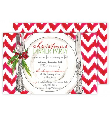 Christmas Invitations, Christmas Placesetting, Roseanne Beck
