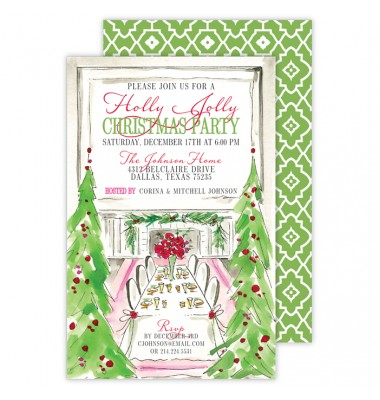 Christmas Invitations, Christmas Tree Banquet, Roseanne Beck