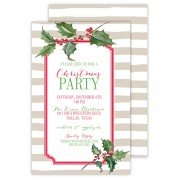 Christmas Invitations, Holly, Roseanne Beck