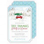 Christmas Invitations, Christmas Tree on Car, Roseanne Beck