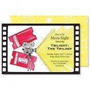 Movie Invitations, Movie Reel, Roseanne Beck