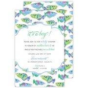 Fish Invitations, Watercolor Tropical Fish, Roseanne Beck