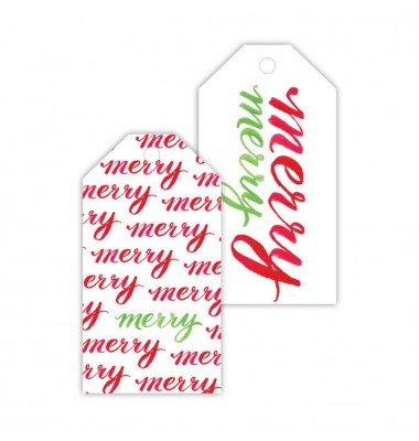 Christmas Gift Tags, Merry Merry, Roseanne Beck