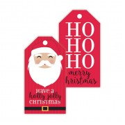 Christmas Gift Tags, Holly Jolly Santa, Roseanne Beck