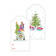 Christmas Gift Tags, Car & Tree with Gifts, Roseanne Beck