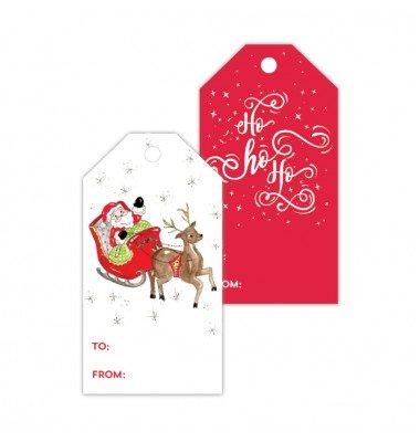Christmas Gift Tags, Santa/Ho Ho Ho, Roseanne Beck