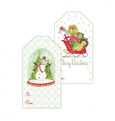 Christmas Gift Tags, Snowman/Sleigh, Roseanne Beck