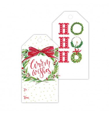 Christmas Gift Tags, Warm Wishes/Ho Ho Ho, Roseanne Beck
