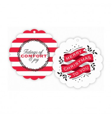 Christmas Gift Tags, Comfort & Joy/Merry Christmas, Roseanne Beck