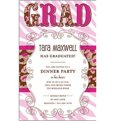 Graduation Party Invitation, New World Grad