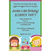Sleepover Invitations, Let's Sleep Over Birthday Party Invitation