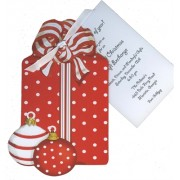 Christmas Invitations, Red Gift Box, Stevie Streck