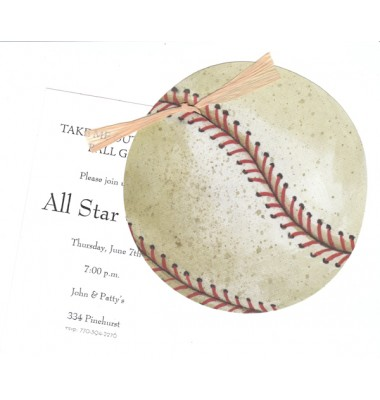 Baseball Invitations, Baseball, Stevie Streck