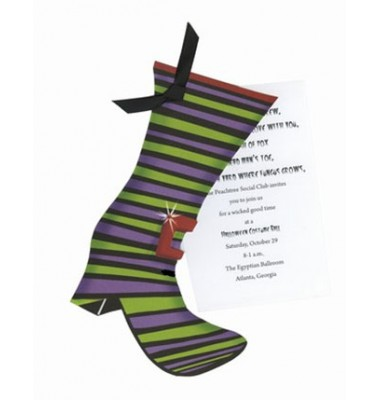 Halloween Invitations, Witches Boot, Stevie Streck