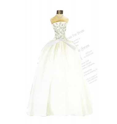 Bridal Shower Invitations, Wedding Gown with Tulle, Stevie Streck