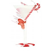 Christmas Invitations, Peppermint Martini, Stevie Streck