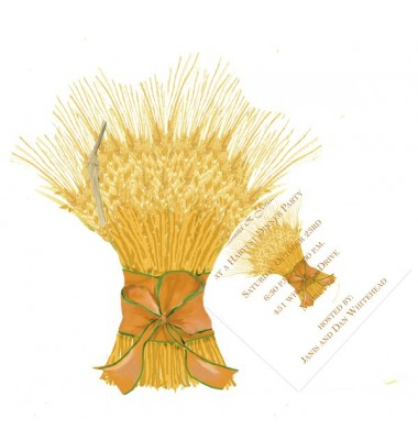 Fall Invitations, Bundle of Wheat, Stevie Streck