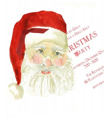 Christmas Invitations, Santa Claus, Stevie Streck