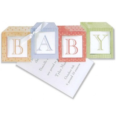 Baby Shower Invitations, Baby Blocks, Stevie Streck