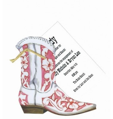 Pink Western Boot