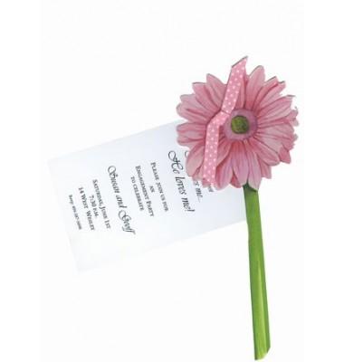 Pink Gerber Daisy Invitations, Stevie Streck