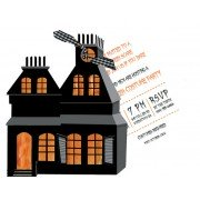 Halloween Invitations, Haunted House, Stevie Streck