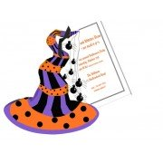 Halloween Invitations, Witch's Hat, Stevie Streck
