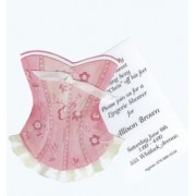 Lingerie Shower Invitations, Pink Corset, Stevie Streck