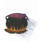 Halloween Invitations, Witches Caldron With Glitter, Stevie Streck