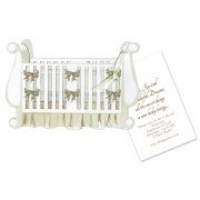 Baby Shower Invitations, Crib, Stevie Streck