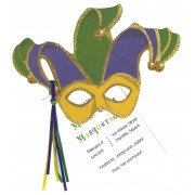 Mardi Gras Invitations, Mardi Gras Mask, Stevie Streck