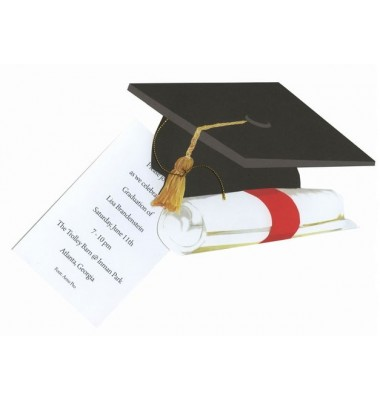 Graduation Invitations, Grad Cap, Stevie Streck