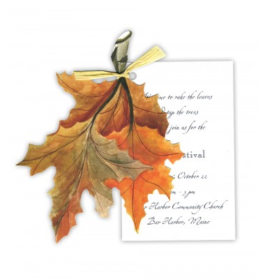 Thanksgiving And Fall Invitations, Fall Leaves, Stevie Streck