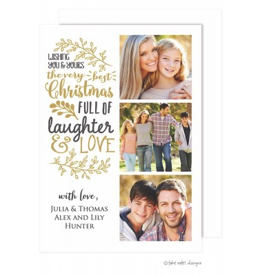 Christmas Digital Photo Cards, Very Best Christmas, Take Note Designs