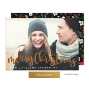 Christmas Digital Photo Cards, Joyous Christmas Script, take note Designs