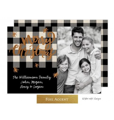 Christmas Digital Photo Cards, Buffalo Plaid, Take Note Designs