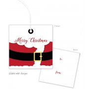 Christmas Gift Tags, Santa, Take Note Designs
